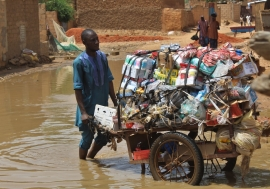 The floods in Niger have left more than 66,000 people displaced this rainy season. Photo: IOM/Daniel Kisito Kouawo
