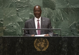 Taban Deng Gai, First Vice-President of the Republic of South Sudan, addresses the general debate of the General Assembly's seventy-fourth session.