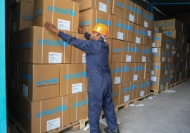 UNICEF dispatched additional 21 Emergency Drug Kits (which include personal protective equipments) to contribute in equipping the identified COVID-19 isolation centres in Addis Ababa, Diredawa city administration and all the regions.