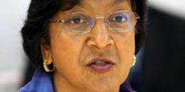 United Nations High Commissioner for Human Rights Navanethem Pillay