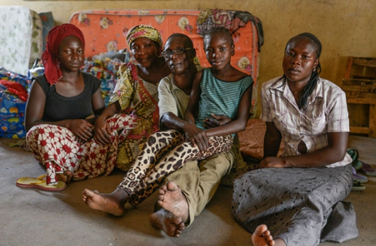 This family has lost two children to abductions by Boko Haram. Their home was also burned to the ground by the insurgents. Photo: UNICEF/NYHQ2015-0636/Rich
