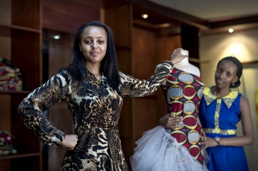 Scorpio R. Khoury, the 26-year old Rwandese, owner of fashion house 'Made in Kigali'. Photo: Panos/Sven Torfinn