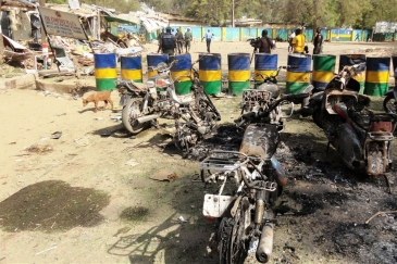 Destruction caused by Boko Haram militia at a police headquarters in Kano, Nigeria. Photo: IRIN/Aminu Abubakar (file photo)