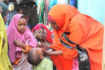 Campagne de vaccination contre la polio en Somalie. Photo: UNICEF