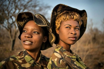 Members of the Black Mamba Anti-Poaching Unit, a South African and majority-women ranger group. Photo: Black Mamba Anti-Poaching Unit