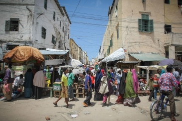 A street scene in Mogadishu, the Somali capital. Photo: AU-UN IST/Stuart Price
