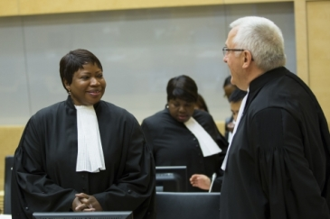 Fatou Bensouda, ICC Prosecutor (left) and James Stewart, ICC Deputy Prosecutor. Photo: ICC