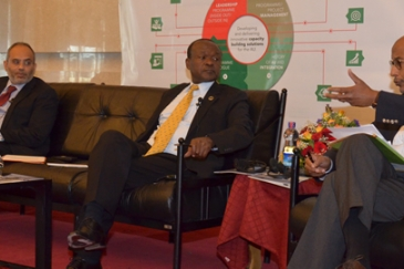 CEO Dr Mayaki moderating a discussion on capacity development needs at launch of AU leadership academy launch​