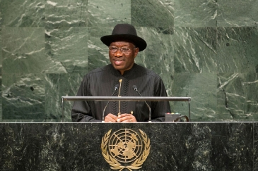 President Goodluck Jonathan of Nigeria addresses the general debate of the sixty-ninth session of the General Assembly. UN Photo/Cia Pak