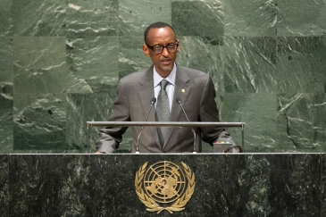 President Paul Kagame of Rwanda addresses the General Assembly. UN Photo/Cia Pak