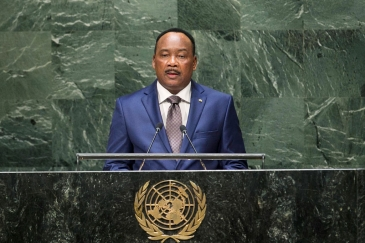 President Mahamadou Issoufou of the Republic of Niger addresses the General Assembly. UN Photo/Cia Pak