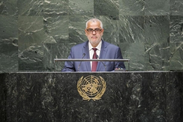 Prime Minister Abdelilah Benkirane of Morocco addresses the General Assembly. UN Photo/Kim Haughto