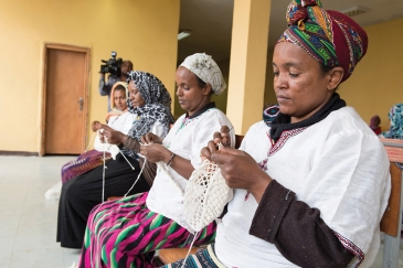 Ethiopian women in a skills training workshop. Photo: UN/Eskinder Debebe