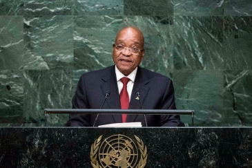 President Jacob Zuma of South Africa addresses the general debate of the General Assembly's seventieth session. UN Photo/Amanda Voisard