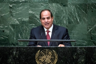 Abdel Fattah Al Sisi, President of the Arab Republic of Egypt, addresses the general debate of the General Assembly's seventieth session. UN Photo/Amanda Voisard