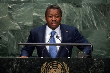 President Faure Essozimna Gnassingbé of Togo addresses the general debate of the General Assembly's seventieth session. UN Photo/Cia Pak