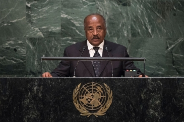 Foreign Minister of Eritrea, Osman Mohammed Saleh, addresses the general debate of the General Assembly's seventieth session. UN Photo/Cia Pak