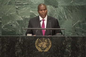 Faustin Archange Touadéra, President of the Central African Republic, addresses the general debate of the General Assembly's seventy-first session.