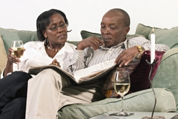 A retired couple go through their financial files. Photo: AMO/George Philipas