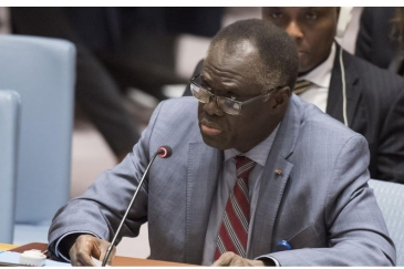 Micheal Kafando, Special Envoy of the Secretary-General for Burundi, briefs the Security Council meeting on the situation in Burundi. Photo Credits: Eskinder Debebe.