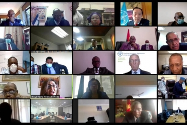 Screengrab of the FAO-AU Ministerial (virtual) Meeting on the Impacts of COVID-19 on Food Security in Africa.