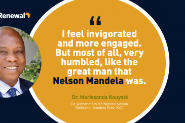 Doctor Morissana Kouyaté, Guinea, is co-winner of the 2020 Nelson Mandela Prize
