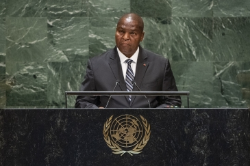 Faustin Archange Touadera, President of the Central African Republic, addresses the general debate of the General Assembly's seventy-fourth session.