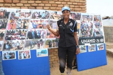 -Sandra Amissah from Ghana, serving in Darfur