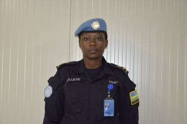 Jackline Urujeni from Rwanda, serving in South Sudan