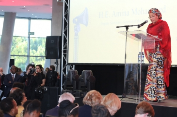 Deputy Secretary-General Amina Mohammed at the World Aids Day Reception in Johannesburg, South Africa. 1 December 2018. Photo Credits:Desmond Ingham-Brown/UN News