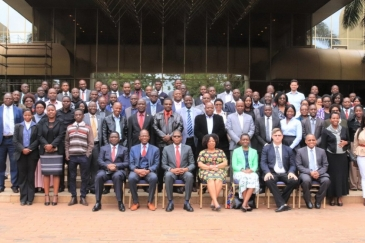 Les participants de la session de validation de la strategie d'implementation de la ZLECA au Zimbabwe, à Harare