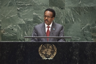 Mohamed Abdullahi Mohamed Farmajo, President of the Federal Republic of Somalia, addresses the general debate of the General Assembly's seventy-fourth session.