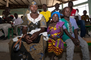 Twenty-nine-year-old Wala Matari, a former terrorist hostage, attends church with her children in the village of Zamai in the Far North region of Cameroon