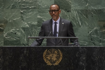 Paul Kagame, President of the Republic of Rwanda, addresses the general debate of the General Assembly's seventy-fourth session. 24 September 2019