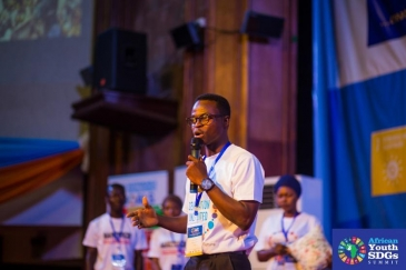 Hyginus Laari Credit at the African Youth SDG Summit. Photo by  African Youth SDG Summit