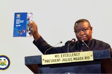 President Julius Maada Bio launches plans to make quality healthcare affordable and accessible in Sierra Leone.            Office of the President of Sierra Leone