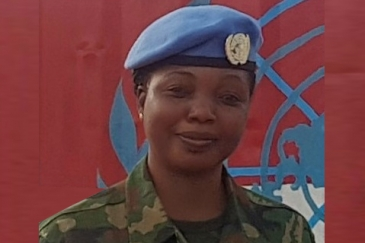 Roseline Stephen Agwai, from Nigeria, serving in the Democratic Republic of the Congo (DRC)