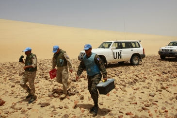 Peacekeepers have been stationed in Western Sahara since 1991 when the UN mission, MINURSO, was established. (file)  Photo Credits:UN Photo/Martine Perret.