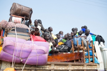 Refugees from South Sudan arrive in Elegu, northern Uganda Photo: UNHCR/Will Swanson
