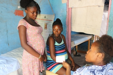 Yveka, 17, visits a UNFPA mobile clinic in Haiti. Haiti's former Minister of Women, Dr. Lise Marie Dejean, says many women lack autonomy over their bodies and health