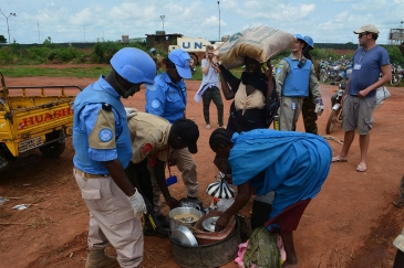 The UN Mission in South Sudan (UNMISS) provides protection to civilians fleeing recent violence in Wau. Photo: UNMISS
