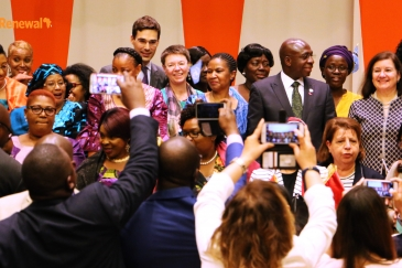 Participants at the African Women Leaders Network held in New York in June, 2017. Photo: Africa Renewal/Ihuoma Atanga