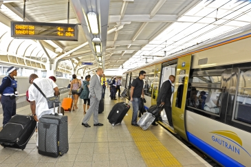 Sandton Gautrain Station in Johannesburg, South Africa.