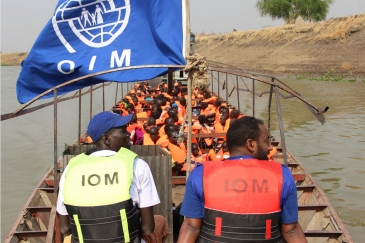 Relocation by boat, which is the only means of transport from the Tergol/Akobo entry point...