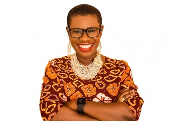 An image of Mayor Yvonne Aki-Sawyerr, the first-ever elected female Mayor of Freetown.