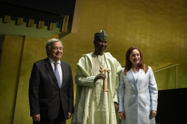 H.E. Tijjani Muhammad-Bande, President of the 74th Session of the United Nations General Assembly