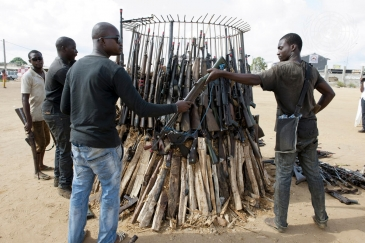 Light Weapons Destroyed at Ceremony in Abidjan