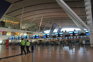 Early morning at Cape Town International Airport.