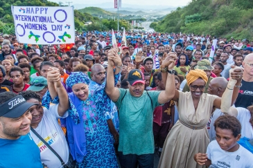 March in support  of International Women's Day in Port Moresby in Papua New Guinea