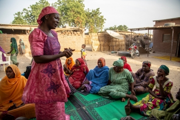 The regional stabilization project for the Lake Chad Basin is training women in raising awareness.